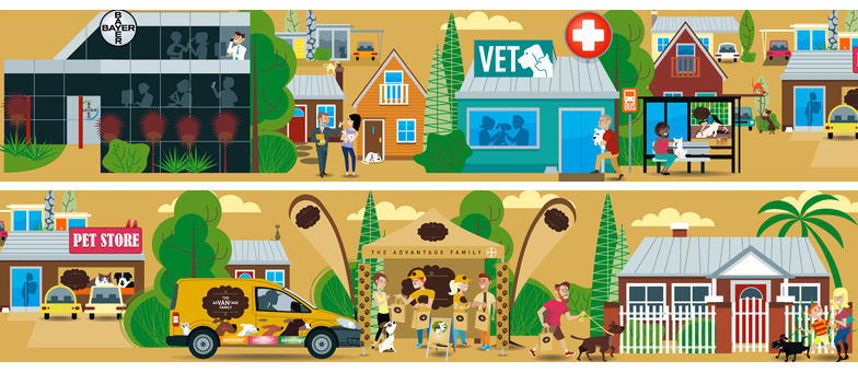 Petcare for Bayer petcare vector illustration