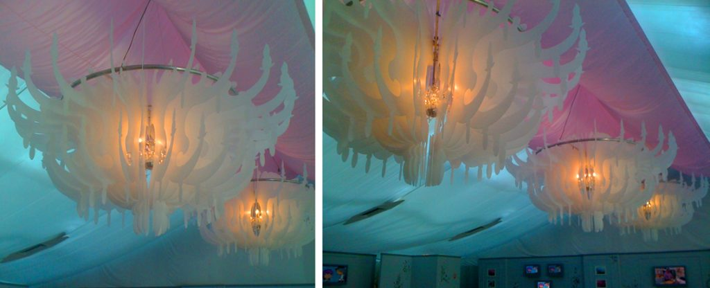 chandeliers for event installation