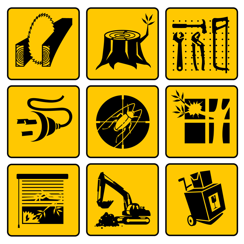 Vector icons for Yellow Pages