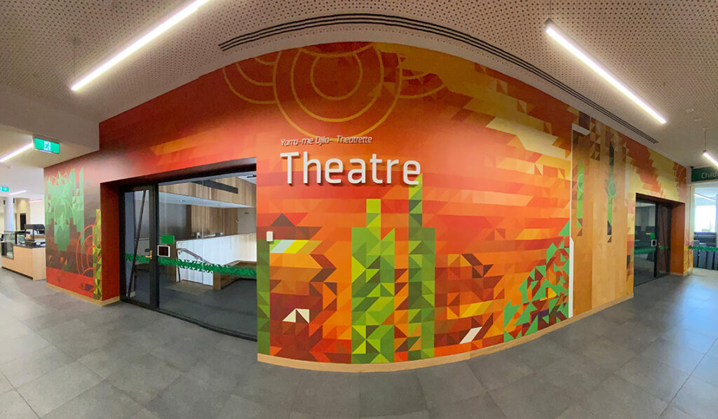 Wall mural for Ivanhoe Library theatre